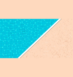 summer pool party banner with space for text vector image
