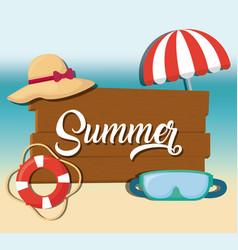 summer season design vector image