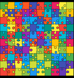 the 100 color outline jigsaw puzzle of banner vector image