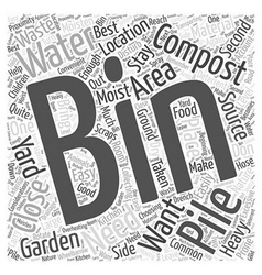 The Best Place for your Composting Bin Word Cloud vector image
