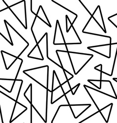 Thin line seamless pattern vector