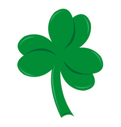 Three-leafed clover on st patrick s day vector