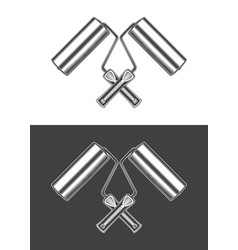 vintage monochrome highly detailed crossed paint vector image