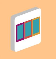 wardrobe cupboard computer symbol vector image
