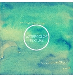 Watercolor texture inblue and turquoise tones vector