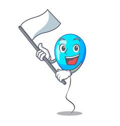 with flag blue balloon bunch design on cartoon vector image