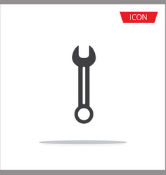 wrench icon or fix symbols isolated on white vector image