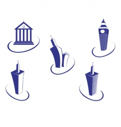 buildings symbols vector image