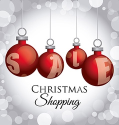 christmas sale design vector image