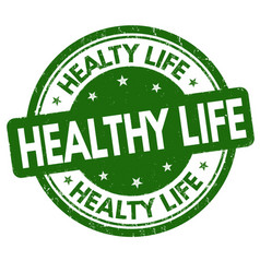 healthy life sign or stamp vector image vector image