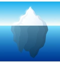 Iceberg and background Iceberg on vector image