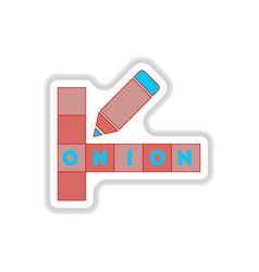in paper sticker style vector image
