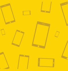 mobile devices smartphone pattern yellow vector image vector image