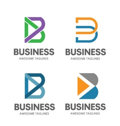 creative B letter concept vector image vector image