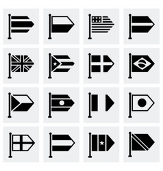 Flags icon set vector image vector image