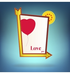 Glowing motel sign Love you vector image