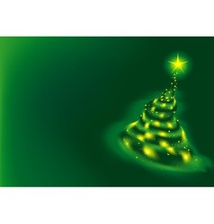 Green Christmas Tree vector image vector image