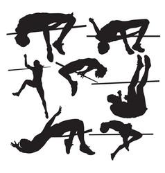 high jump vector image