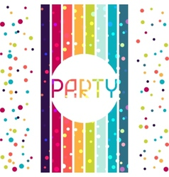 Holiday celebration background design for party vector image vector image