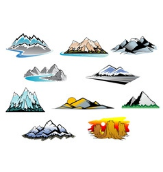 mountain peaks vector image