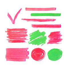 set of highlighter marker spots and signs vector image