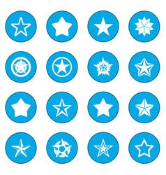 star icon blue vector image