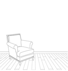 vintage armchair vector image