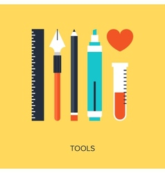 Design Tools vector image vector image