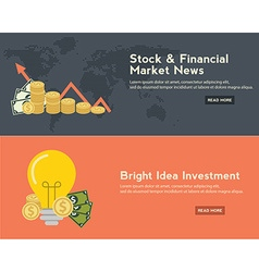 Flat design concepts for business finance stock vector image