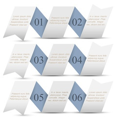Horizontal origami paper numbered banners vector image vector image