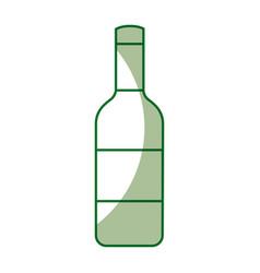 isolated bottle of wine vector image