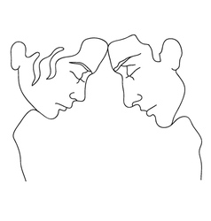 silhouettes of man and woman vector image vector image