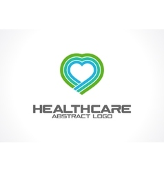 Abstract logo for business company Healthcare vector image