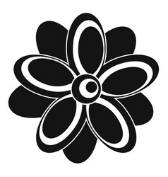 flower icon simple style vector image vector image