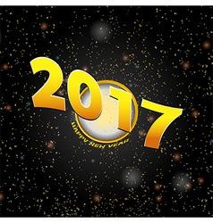 Happy New Year Twenty Seventeen background vector image