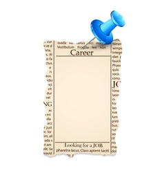 Job Classified in Newspaper vector image