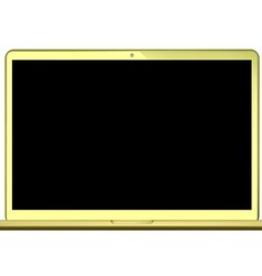 laptop gold vector image vector image