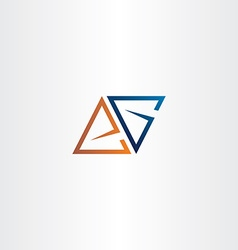 letter a or e and letter g logo triangle vector image