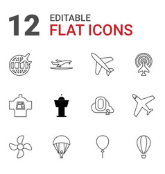 12 air icons vector