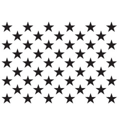 50 stars united states america usa flag design vector image