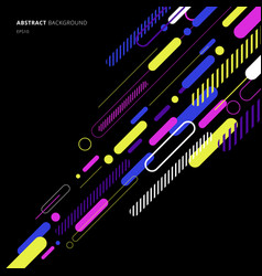 Abstract elements dynamic rounded line diagonal vector