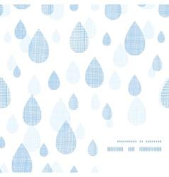 Abstract textile blue rain drops corner frame vector