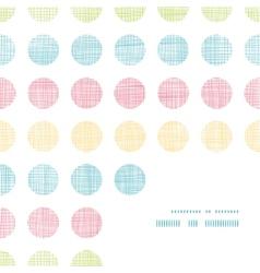 Abstract textile polka dots stripes frame corner vector image vector image