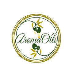 Aroma oil logo design vector