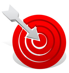 arrow in red target precision bullseye accuracy vector image