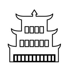 asian building castle icon vector image