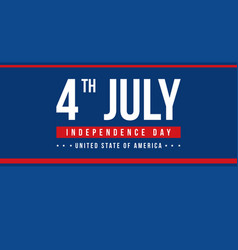 banner style independence day celebration vector image