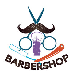 barbershop for men symbol vector image