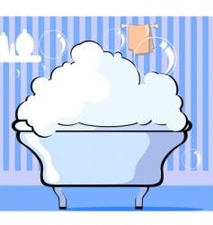 bath tub vector image