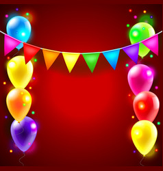 Birthday or party background vector image